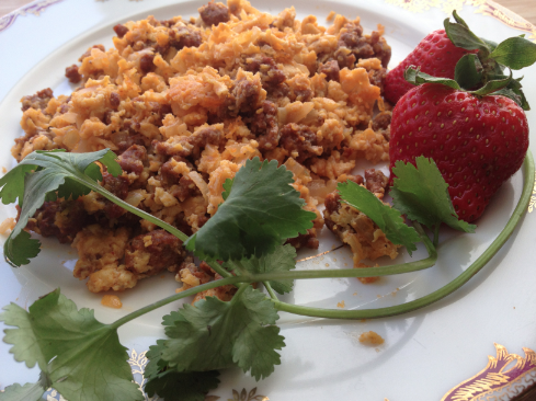 Chorizo Scrambled Eggs - Paleo Plan