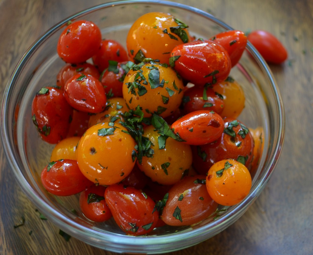 Fresh Tomatoes with Basil
