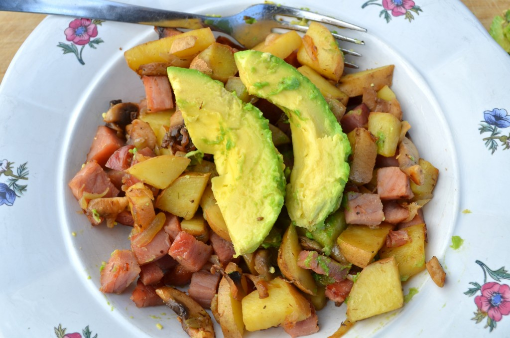 Ham Stir-Fry Breakfast