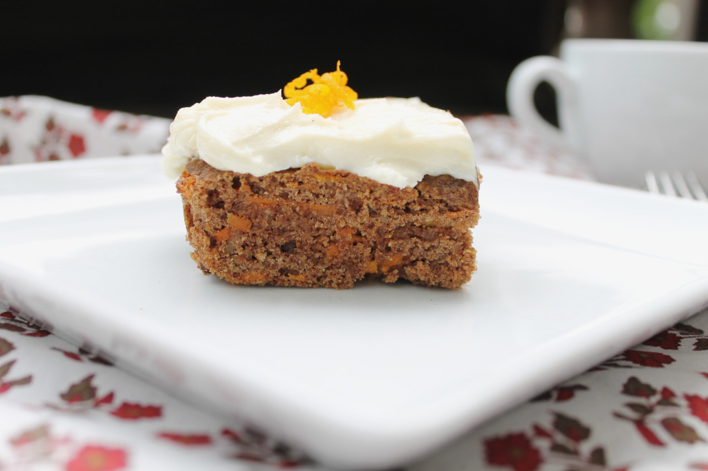 Paleo Carrot Cake with Creamy Dairy Free Frosting