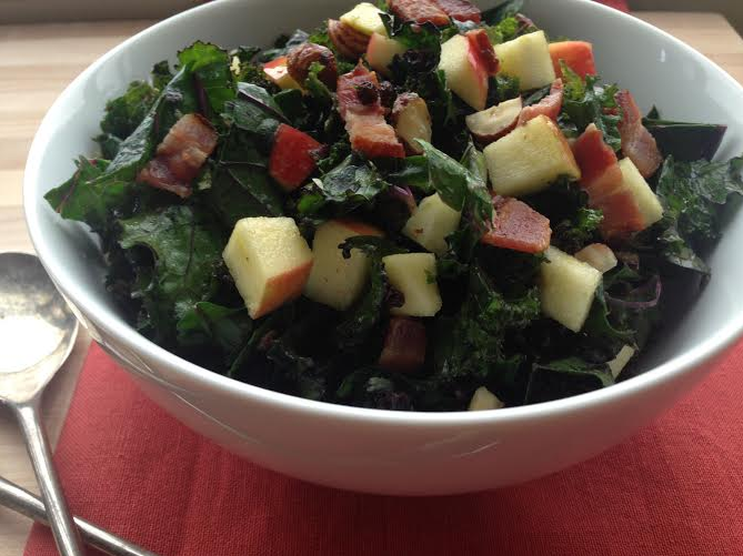 kale-salad-currants-apples-hazelnuts