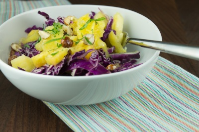 Raw Cabbage and Pineapple Salad-3