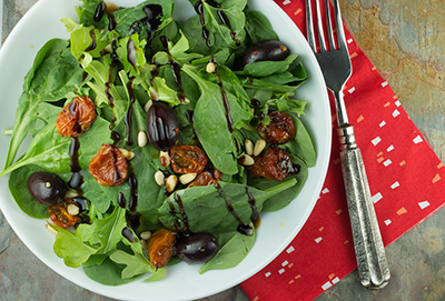 Italian Salad with Roasted Tomatoes and Olives-web