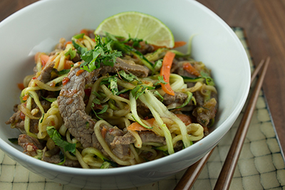 Ginger Beef and Noodle Stir Fry