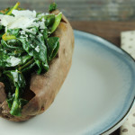 Slow Cooker Bacon and Spinach Stuffed Sweet Potatoes