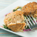 Winter Slaw with Quick Salmon Cakes